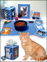 Joyful Kittens Decor Set