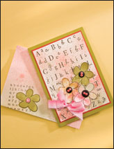 Alphabet Background Card
