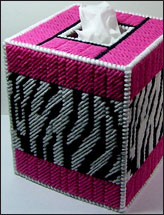 Zebra Stripes Tissue Box Cover