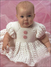 White Ruffled Baby Dress