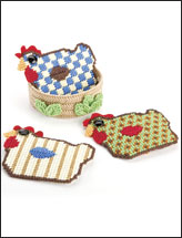 Rooster Coasters & Nest