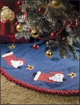 Flying Santas Tree Skirt