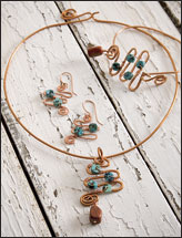 Copper Serpentine Set