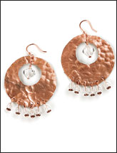 Copper Rounds Earrings
