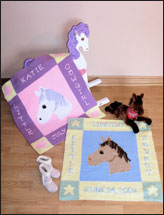 Baby Birth Sampler Pony Afghans Pattern Pack