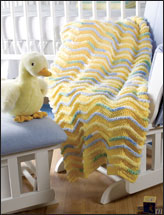 Quick and Easy Happy Touch Ripples Baby Afghan