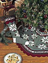 Scandinavian Snowflake Tree Skirt & Stocking
