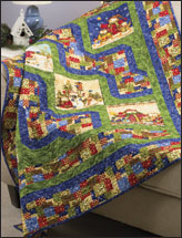 Snowman Trails Lap Quilt