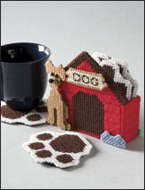 Doghouse Coaster Set