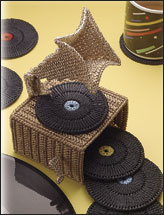 Phonograph Coaster Set