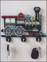 Antique Train Key Holder