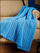 Eyelet & Wavy-Cables Blanket