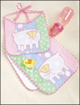 Little Lamb Bib & Burp Pad