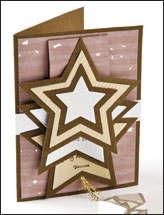Shooting Star Waterfall Card