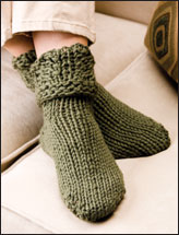 Lacy Toe-Up Slipper Socks