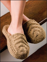 Cable Clog Slippers
