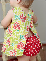 Reversible Baby Dress With Open Back