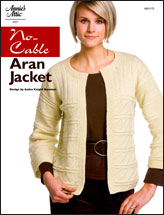 No-Cable Aran Jacket