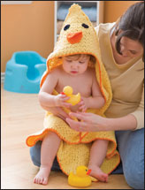 Duck Hooded Towel & Bath Mitt
