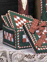 Christmas Checks Coaster and Holder Set