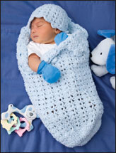 Shell Stitch Papoose & Hat