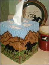 Wild Mustang Tissue Box Cover