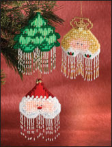 Plastic Canvas - Scrap Project Patterns - Christmas Stars Ornaments