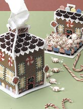 Gingerbread House Tissue Cover and Candy Dish