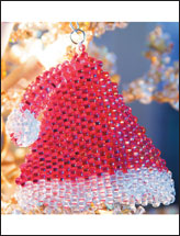 Santa's Hat Ornament Pattern