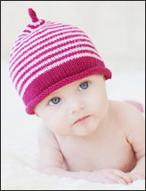 Rolled Brim Striped Beanie