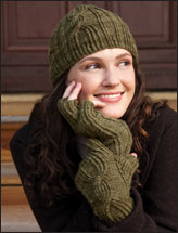 Twisted Rib Mitts & Hat Set