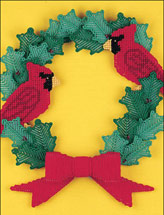 Cardinal Holly Wreath