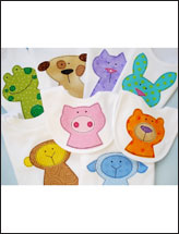 Eight Animal Applique Designs