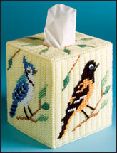 Woodland Birds Tissue Topper