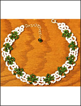 Shimmering Shamrocks Necklace