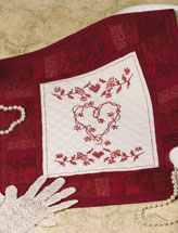 Redwork Hearts & Flowers
