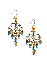 Golden Butterfly Dance Earrings