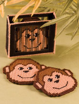 Mischievous Monkey Coasters