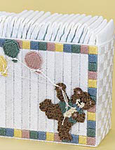 Teddy Diaper Stacker & Wipes Cover
