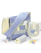 Flannel Diaper Bag & Accessories
