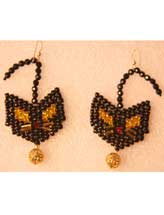 Black Cat Earrings Beadwork Pattern