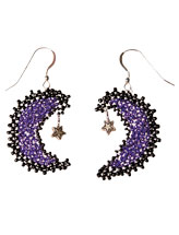 Purple Moon Earrings Beadwork Pattern