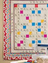 Quilt Scrabble Throw