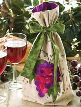 Appliqued Wine Bag