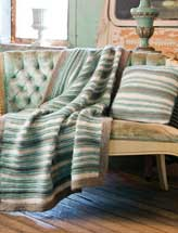 Purl Stripe Pillow & Throw