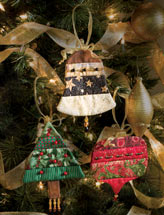 Beaded Patchwork Ornaments
