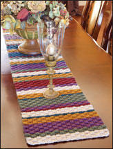 Rustic Basket Weave Table Runner