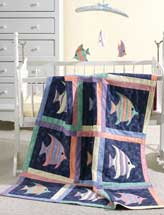 Rainbow Fish Baby Quilt & Mobile