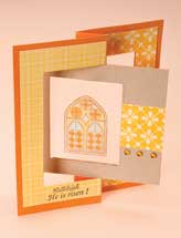Stained Glass Window Flip-Flop Card
