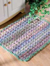 Cushy Puff-Stitch Throw Rug